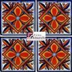 Azulejo Talavera modelo Yesenia en 10.5 x 10.5 cm, ideal para baños y cocinas mexicanas lo encuentras en Rústicos Artesanales visítanos en nuestra web www.rusticosartesanales.com