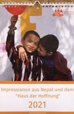 """Wandkalender Impressionen aus Nepal und dem """"Haus der Hoffnung"""" 2021"""