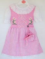 Kinder Trachtenkleid Karo rosa