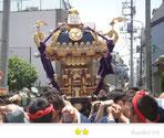 まゆぴょんさん:石浜神社大祭