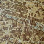 Florentiner Papier: Stadtplan von Paris