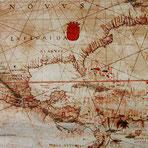 Florentiner Papier: Karte von Amerika