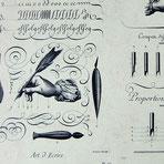 Florentiner Papier: Kalligraphie