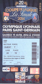 Ticket  Lyon-PSG  2013-14 bis