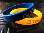 embossed printed silicone wristband