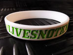 debossed printed silicone wristband