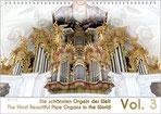 """Der Orgelkalender 2019: eine Rhapsodie in Gold und Weiß. Eine traumhafte barocke Orgel, von unten nach oben fotografiert. Unten ist der Titel """"Die schönsten Orgel der Welt"""" in Deutsch und Englisch, links eine große 2019."""