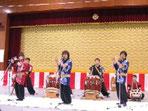 笛と太鼓の演奏 八鼓