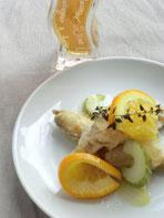 オレンジ&ハーブの魚マリネ