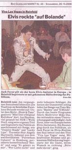 """(""""MARKT"""", Wochenzeitung für Bad Oldesloe, Reinfeld und Umgebung - 28. Oktober 2006)"""
