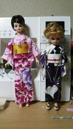 リカちゃん浴衣,ジェニー浴衣,Momoko浴衣