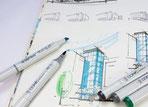 Unser Entwurf für Ihr Haus soll alle Rahmenbedingungen wie Raum- und Funktionsprogram, Budget und örtliche Gegebenheiten berücksichtigen.