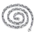 Königskette Silber aus Edelstahl 55 cm -65 cm