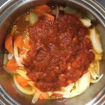 ③のフタを開けた状態。野菜の水分がかなり出てきてます。