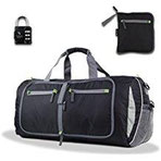 The Friendly Swede Faltbare Reisetasche 48 Liter - Sporttasche, Duffle Bag inklusive Kofferschloss
