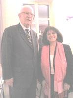 Jean-Pierre FOURCADE, Sénateur et Maire de Boulogne Billancourt jusqu'en Mars 2007 & Michèle EJNES REUBEN 13 mars 2007