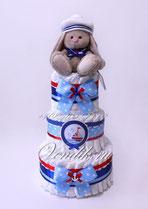 Морской памперсный торт