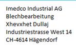 Imedco Industrial AG - Hägendorf