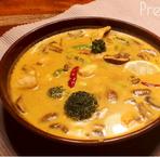 Hähnchensuppe à la Tom Kha Gai