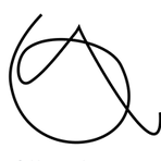 """lettera """"a"""" - tracciata a mano"""