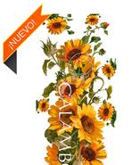 Papel decoupage con motivos de flores y plantas