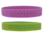 plain debossed / embossed silicone wristband