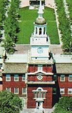 アメリカ独立宣言が行なわれたインディペンデンス・ホール。フィラデルフィア