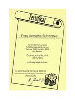 Craniopathie-Zertifikat