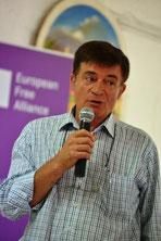 Gustave Alirol, président de Régions et Peuples Solidaires