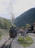 Vapeur sur le trajet du train des Pignes (2013)