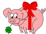Weihnachtsgeschichten: Vom Glücksschwein