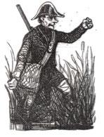 """Garde-champêtre - dessin paru dans """"Le Prisme"""" en 1841"""