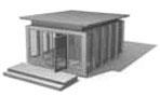 Zweithaus Wohnstudio Größenbeispiel 1