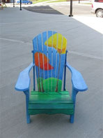 Original Painting on Chair for Charity