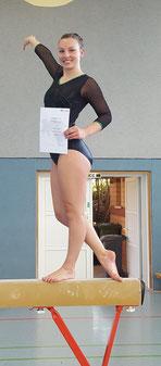 Strahlend über Platz 9: Merle Schröder