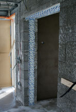 Airtight sealing for cavity walls