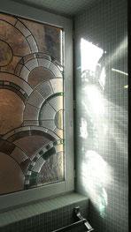 vitrail verres imprimés clairs. Atelier Art du Vitrail, Anne Salvagnac