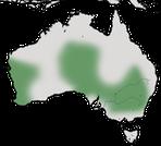 Karte zur Verbreitung des Türkisstaffelschwanzes (Malurus splendens) in Australien.