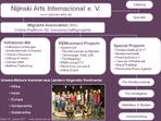 Organigramm Nijinski Arts Internacional - Verein zur Förderung des internationalen Austauschs von Kunst, Kultur und Bildung e. V.