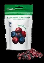 Biokia getrocknete Beeren aus Finnland. Johannisbeeren, Heidelbeeren, Preiselbeeren und Cranberrie