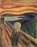 テンペラ画の「叫び」(1910年)ムンク美術館所蔵。