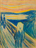 パステル画の「叫び」(1893年)ムンク美術館所蔵。
