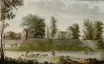 Presbytère et église de Notre-Dame  de la Chapelle vus du côté de la ville  avant 1789.
