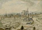 Vue d'Abbeville en perspective (Notre- Dame de la Chapelle au premier plan)  avant 1619