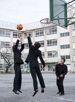 KANKO男子学生服バスケットをプレー