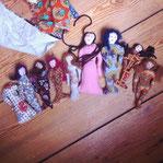 I sew rag dolls.