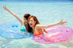 プライベートビーチで海遊び