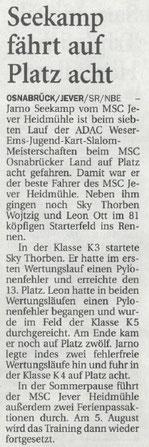 Nordwest Zeitung 23.06.2017