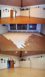 Bodenrenovierung im Vereinsheim