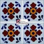 Azulejo Talavera modelo Sevilla en 10.5 x 10.5 cm, ideal para baños y cocinas mexicanas lo encuentras en Rústicos Artesanales visítanos en nuestra web www.rusticosartesanales.com